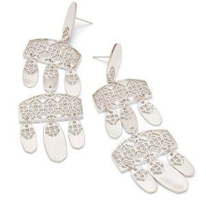 Kendra Scott Silver Filigree earrings
